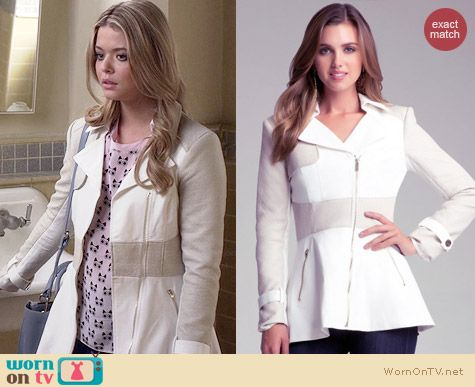 Bebe Bianca Coated Trench Coat worn by Sasha Pieterse on PLL