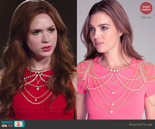 Bebe Body Chain worn by Karen Gillan on Selfie