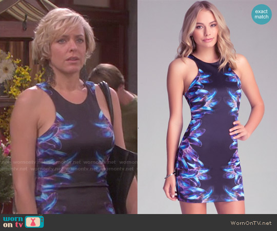 Bebe Feather Glow Dress worn by Arianne Zucker on Days of our Lives