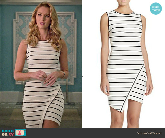 Bec & Bridge Jedi Striped Asymmetrical Mini Dress worn by Yael Grobglas on Jane the Virgin