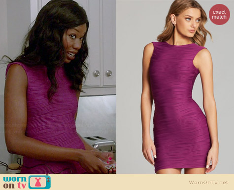 Bec & Bridge Wisteria Reversible Dress in Magenta worn by Xosha Roquemore on The Mindy Project