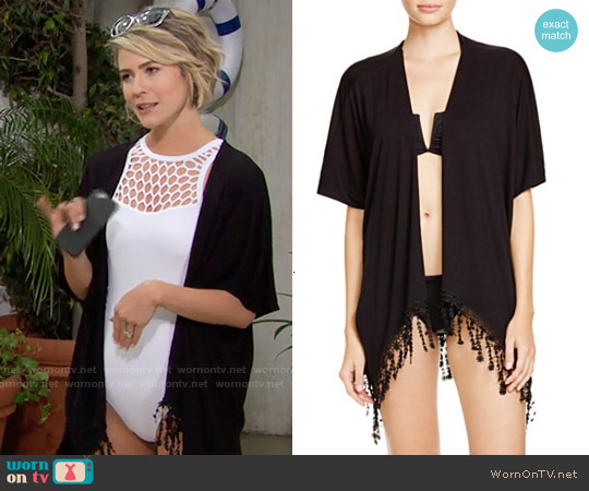 Becca by Rebecca Virtue Venise Fringe Kimono Swim Cover Up worn by Caroline Spencer on The Bold & the Beautiful