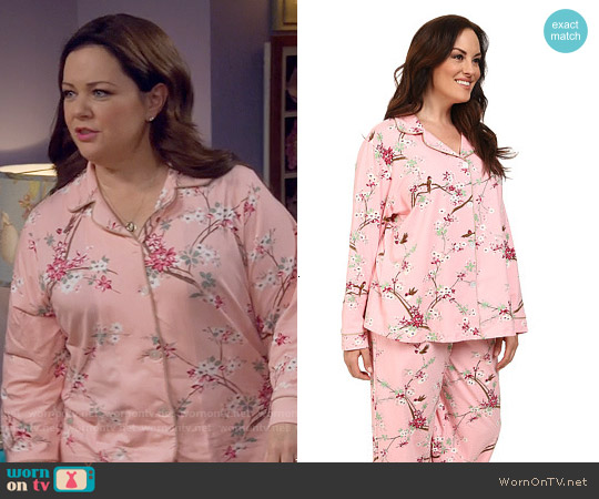 BedHead Birds / Blossoms Print PJ Set worn by Melissa McCarthy on Mike & Molly