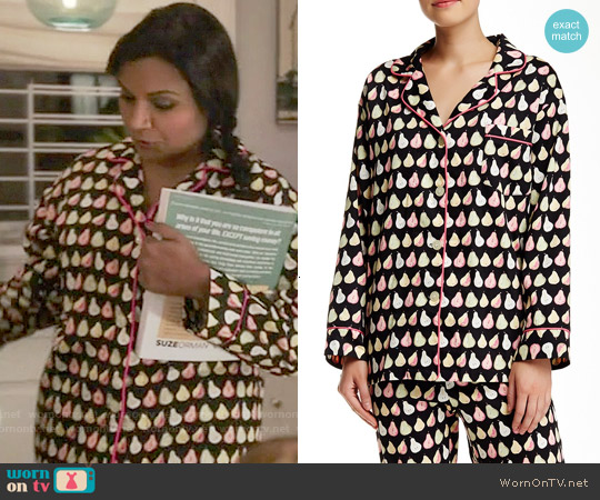 BedHead Dancing Pears Pajamas worn by Mindy Kaling on The Mindy Project
