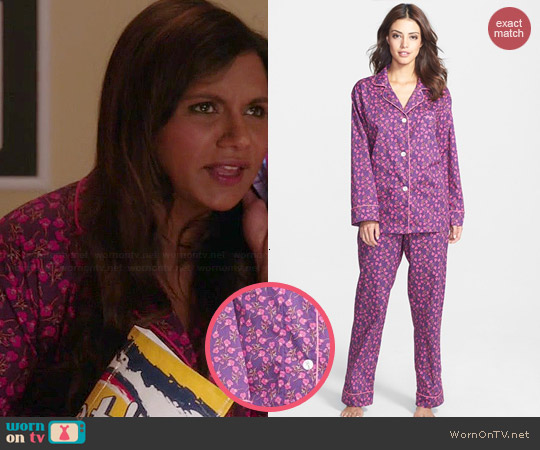 BedHead Purple Petunia Pajamas worn by Mindy Kaling on The Mindy Project