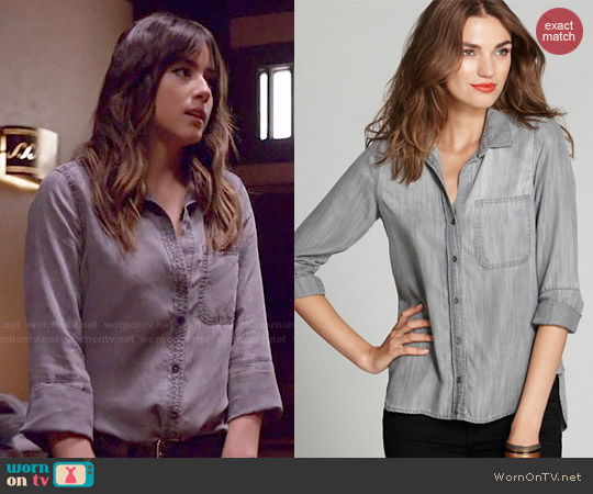 Bella Dahl Denim Button Down worn by Chloe Bennet on Agents of SHIELD