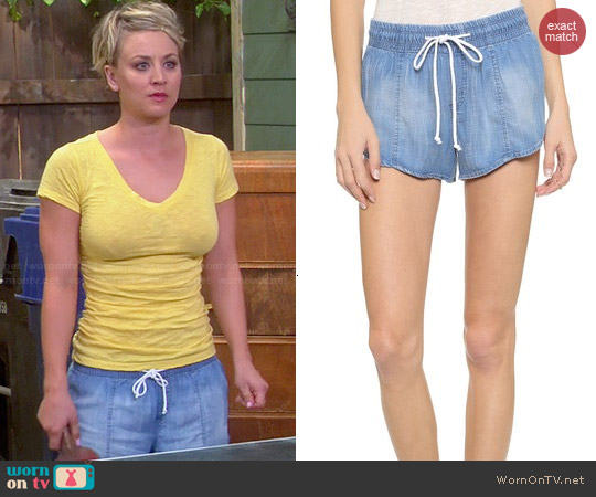 Bella Dahl Easy Seam Shorts worn by Kaley Cuoco on The Big Bang Theory