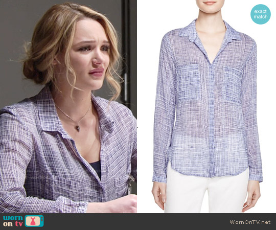 Bella Dahl Hipster Shirt worn by Hunter King on The Young & the Restless