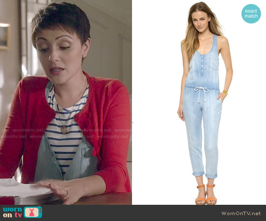 Bella Dahl Racer Back Jumpsuit worn by Italia Ricci on Chasing Life
