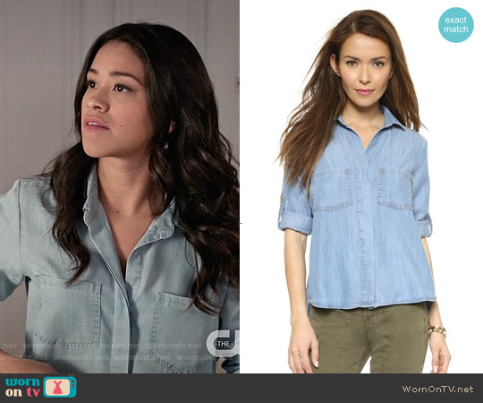 Bella Dahl Split Back Button Down Shirt worn by Gina Rodriguez on Jane the Virgin