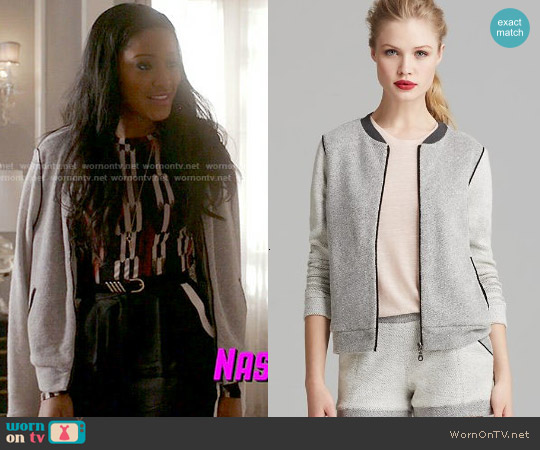 Bella Luxx Color Block Bomber Jacket worn by Keke Palmer on Scream Queens