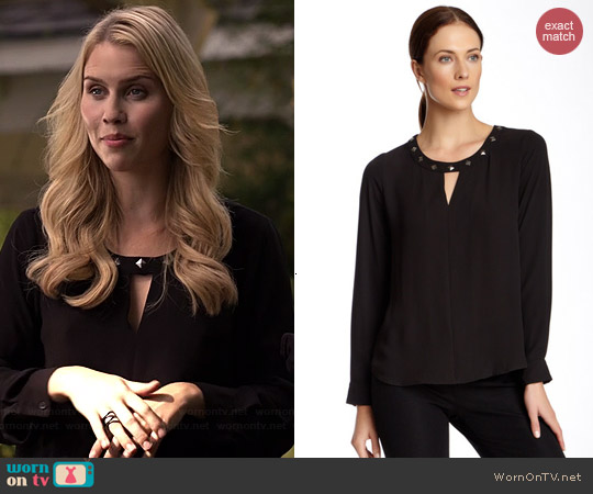 Bellatrix Long Sleeve Stud Embellished Blouse worn by Claire Holt on The Originals