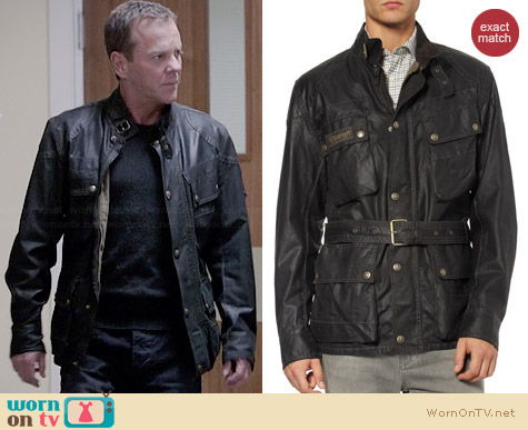 Belstaff Sammy Miller Jacket worn by Kiefer Sutherland on 24