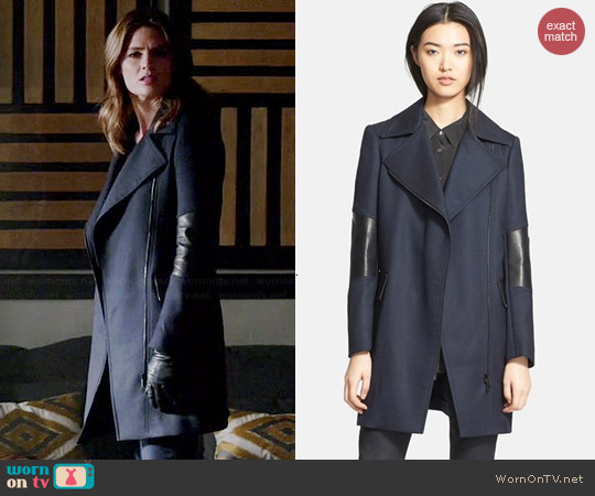 Belstaff Paxton Coat worn by Stana Katic on Castle