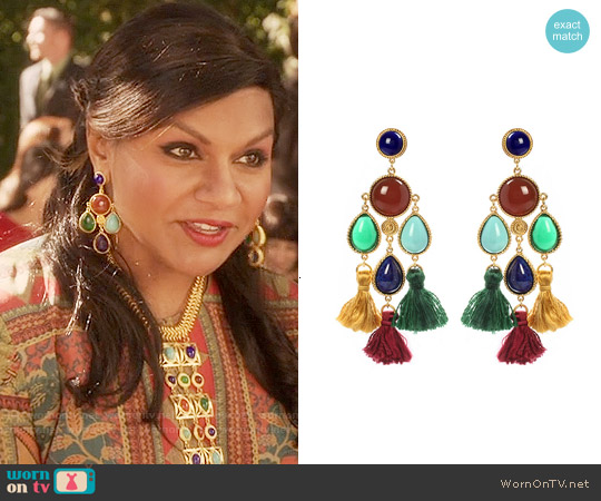 Ben-Amun Spice Market Earrings worn by Mindy Lahiri on The Mindy Project