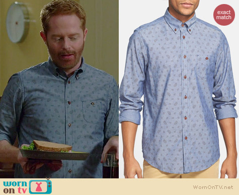 Ben Sherman Paisley Print Chambray Shirt worn by Jesse Tyler Ferguson on Modern Family