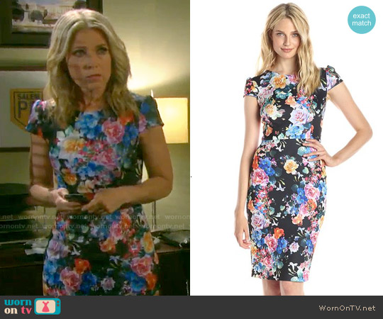 Betsey Johnson Cap Sleeve Fitted Dress worn by Melissa Reeves on Days of our Lives