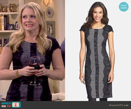 Betsey Johnson Lace Trim Tweed Sheath worn by Melissa Joan Hart on Melissa & Joey