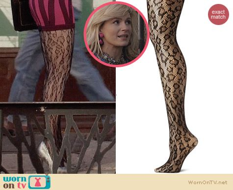 Betsey Johnson Leopard Net Tights worn by Samantha Jones on The Carries Diaries