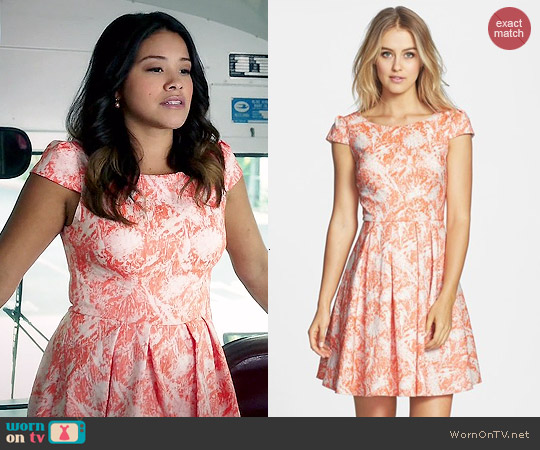 Betsey Johnson Print Fit & Flare Dress worn by Gina Rodriguez on Jane the Virgin