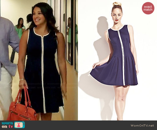 Betsey Johnson Zip Front Tank Dress worn by Gina Rodriguez on Jane the Virgin