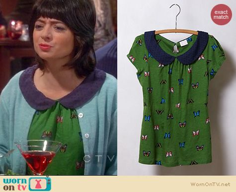 The Big Bang Theory Fashion: Anthropologie Novelty Collar tee worn by Kate Micucci