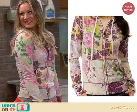 The Big Bang Theory Fashion: Lucky Brand Floral Hoodie worn by Kaley Cuoco