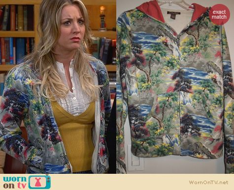 The Big Bang Theory Fashion: Lucky Brand Waterfalls Sweater worn by Kaley Cuoco