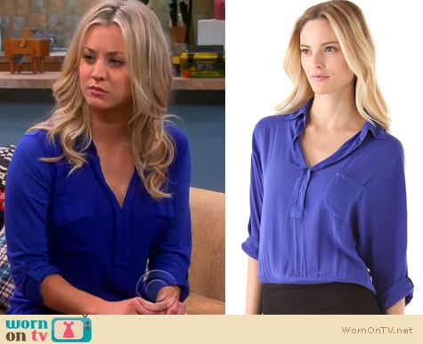 Big Bang Theory Fashion: Penny's blue shirt by Splendid