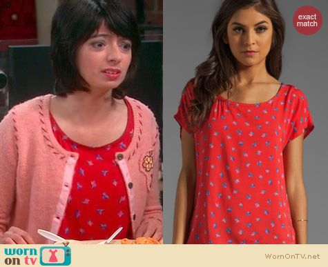The Big Bang Theory Fashion: Splendid Parisian Tulip top worn by Kate Micocci
