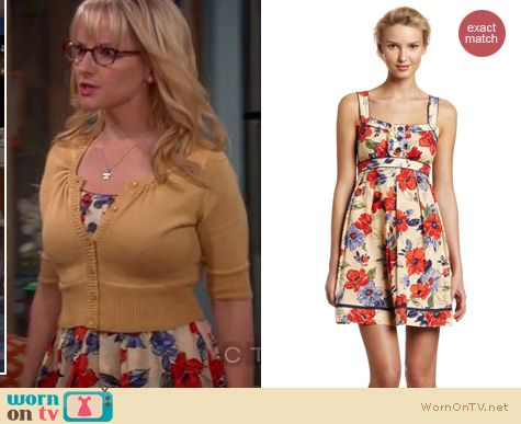 The Big Bang Theory Fashion: Jessica Simpson ruffle tank dress worn by Bernadette