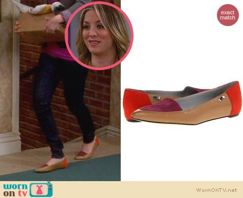 The Big Bang Theory Shoes: Calvin Klein Bina Flats worn by Kaley Cuoco