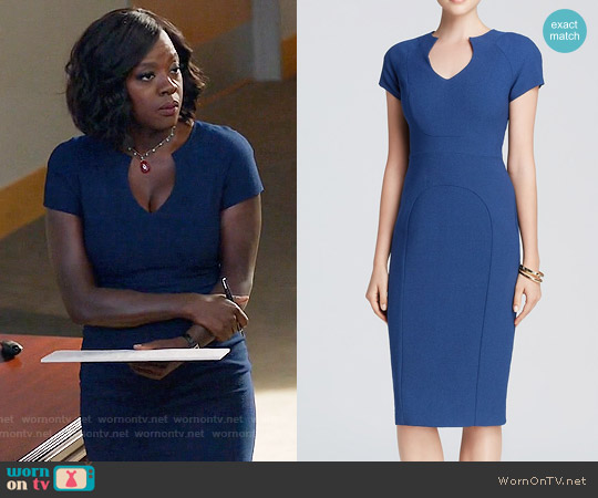 Black Halo Gypsy Rose Sheath in Cruise worn by Viola Davis on HTGAWM