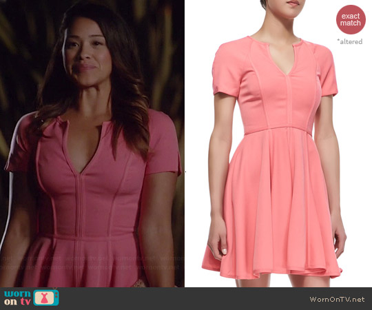 Black Halo Braelyn Dress worn by Gina Rodriguez on Jane the Virgin