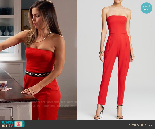 Black Halo Iris Jumpsuit worn by Ana Ortiz on Devious Maids