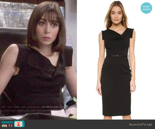 Black Halo Jackie O Dress worn by Cristin Milioti on The Mindy Project
