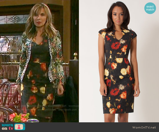 Black Halo Stefan Sheath worn by Lauren Koslow on Days of our Lives