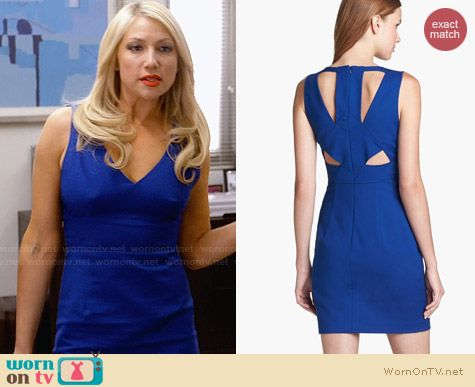 Black Halo Vera Cutout Mini Dress worn by Ari Graynor on Bad Teacher