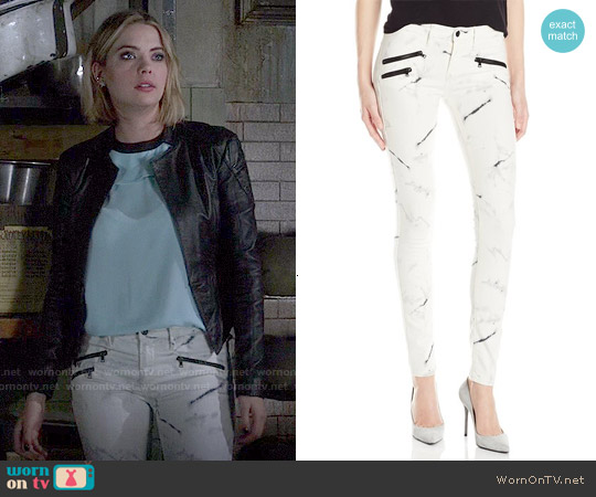Black Orchid Billie Zipper Jeans worn by Ashley Benson on PLL