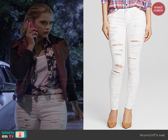 Blank Denim Shredded Skinny Jeans worn by Hanna Marin on PLL