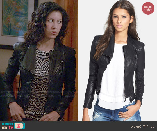 Blank NYC Faux Leather Jacket worn by Stephanie Beatriz on Brooklyn Nine-Nine