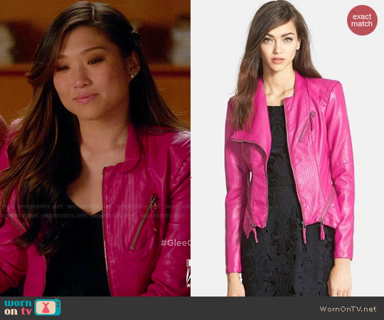 BlankNYC Faux Leather Jacket worn by Jenna Ushkowitz on Glee