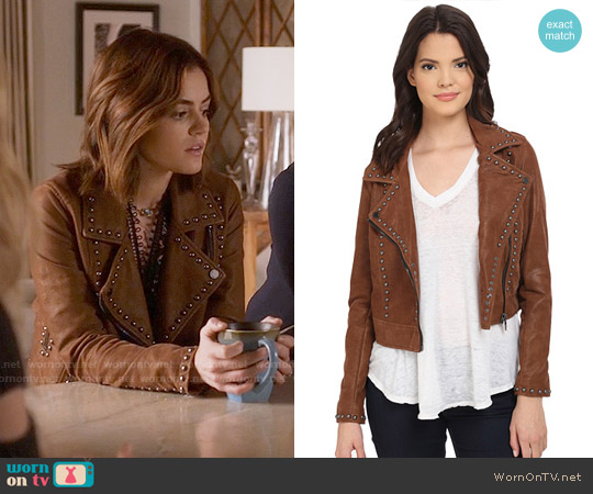 Blank NYC Rocky Rode Jacket worn by Aria Montgomery on PLL