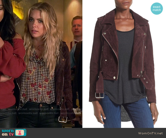 Blank NYC Morning Suede Moto Jacket worn by Hanna Marin on PLL