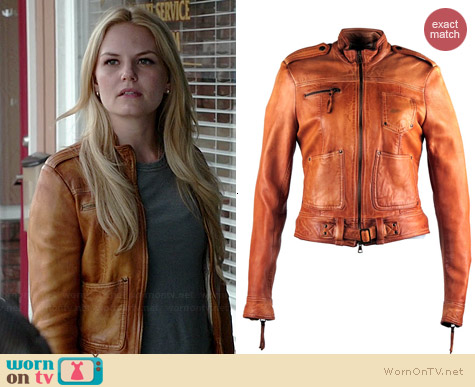 Blur Leather Elit Jacket worn by Jennifer Morrison on OUAT