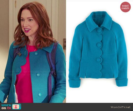 Boden Alice Jacket worn by Ellie Kemper on Unbreakable Kimmy Schmidt
