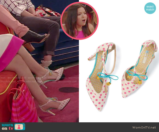 Boden Polka Dot Alice Heels worn by Jasmine Kang on IDDI