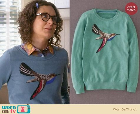 Boden Bird Sweater worn by Sara Gilbert on Bad Teacher