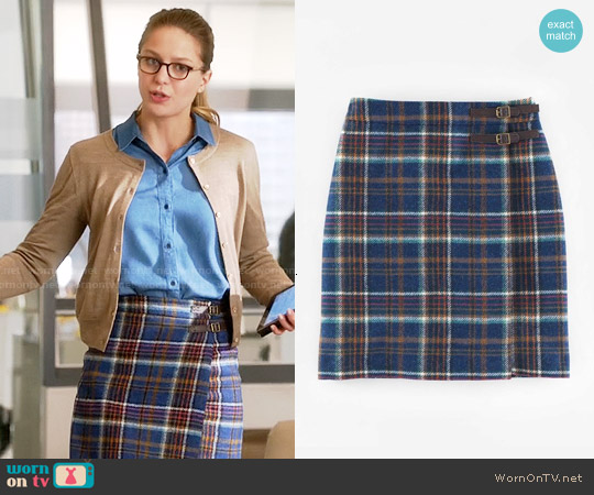Wornontv kara s plaid wrap skirt on supergirl melissa for British boden