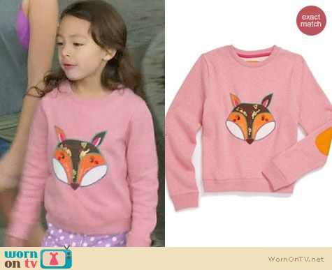 Boden Fox Applique Sweatshirt worn by Aubrey Anderson-Emmons on Modern Family